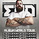 DJ World Tour Dates Flyer Template - GraphicRiver Item for Sale