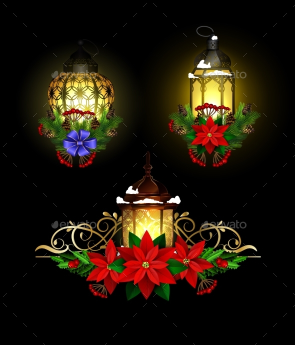 GraphicRiver Christmas Decoration with Street Light 21013557