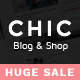 Chic Responsive Blog & WooCommerce WordPress Theme - ThemeForest Item for Sale