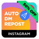 Instagram Auto DM (Direct Message) to New Followers & Repost Modules for Nextpost Instagram