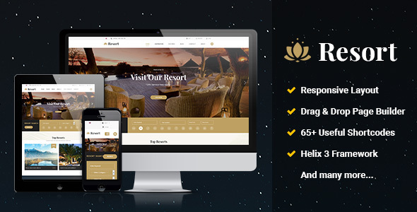Image of Resort II - Ultimate Responsive Hotel & Resort Joomla Template