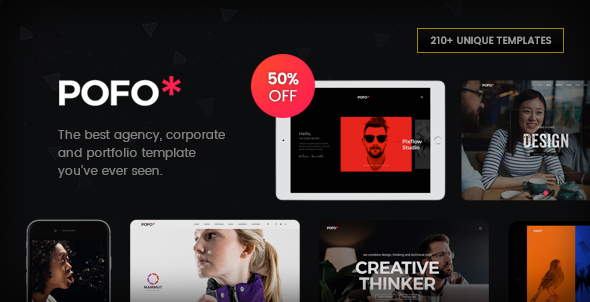 Pofo - Creative Agency, Corporate and Portfolio Multi-purpose Template