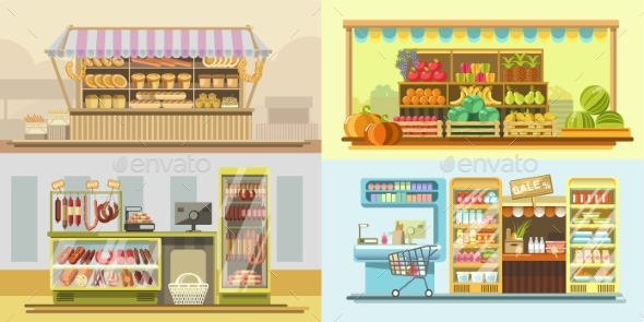 GraphicRiver Shop Counters or Store Supermarket Product Display 21013864