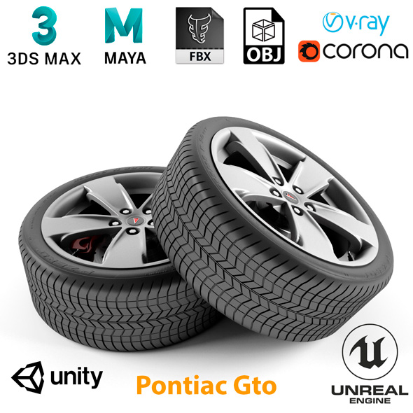 3DOcean Pontiac Gto Wheel 21013875