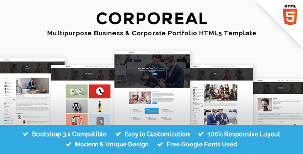 Image of CORPOREAL - Multipurpose Business & Corporate Portfolio HTML5 Template