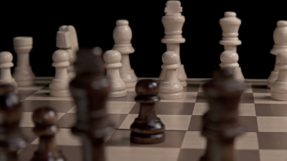 Chess Piece Pawn Goes Forward