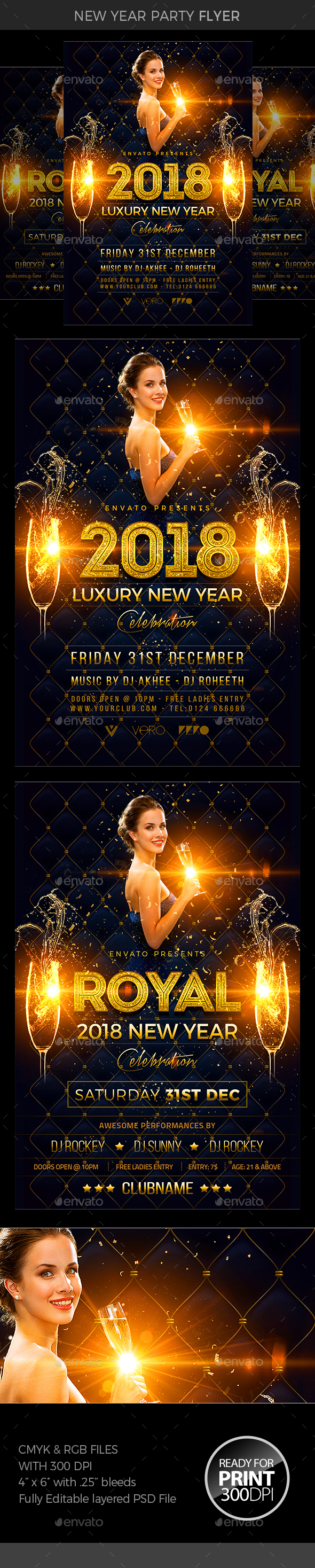 GraphicRiver New Year Eve Flyer 21014031