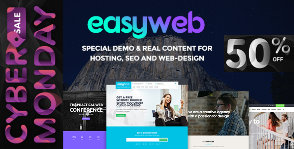 EasyWeb - WP Theme For Hosting, SEO and Web-design Agencies - Business Corporate