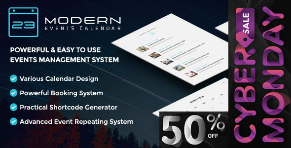 Modern Events Calendar - Responsive Event Scheduler & Booking For WordPress - CodeCanyon Item for Sale