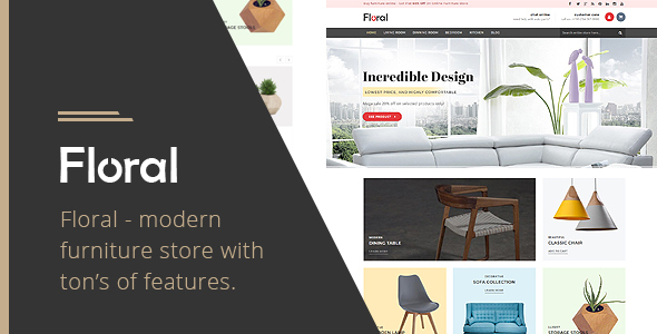 ThemeForest Floral Furniture Store Shopify Theme 21014100