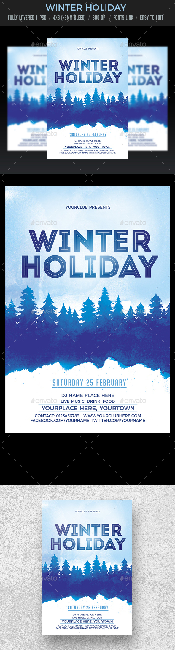 Winter Holiday - Clubs & Parties Events