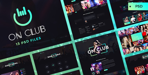 OnClub - Bar & Club PSD Template - Nightlife Entertainment