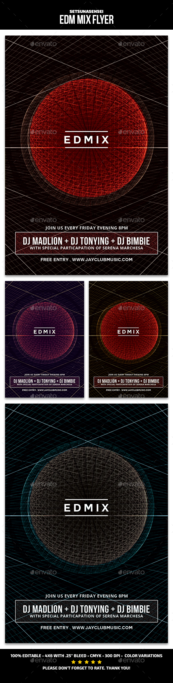 GraphicRiver EDM Mix Flyer 21014444