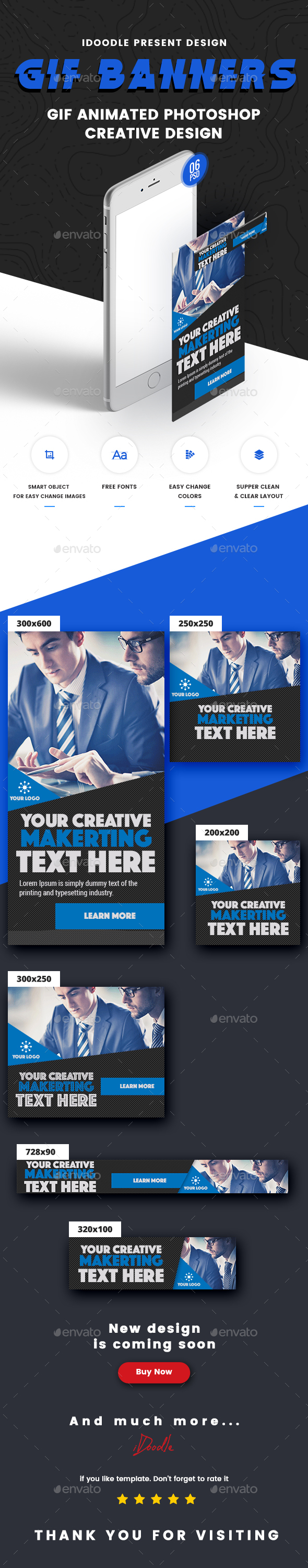 Animated GIF Business Banner Ad - Banners & Ads Web Elements