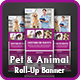Pet Care Roll-Up Banner Template - GraphicRiver Item for Sale