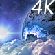 Abstract Clouds in Space and Planet with the Shine Star - VideoHive Item for Sale