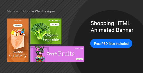 Online Shopping | HTML5 Google Banner Ad 25 - CodeCanyon Item for Sale