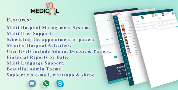 CodeCanyon MenorahHealth- Multi Lingual Hospital Management System 21014600