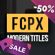 Modern Titles Pack for FCPX - VideoHive Item for Sale