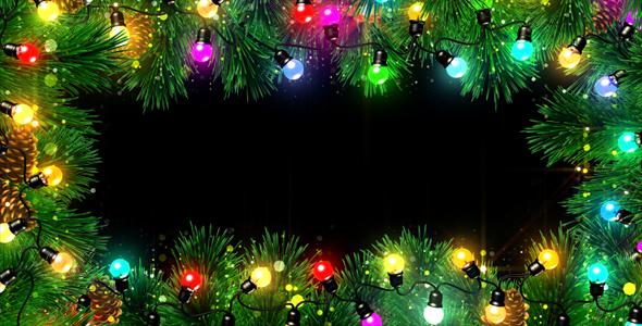christmas lights frame - Christmas Lights Frame