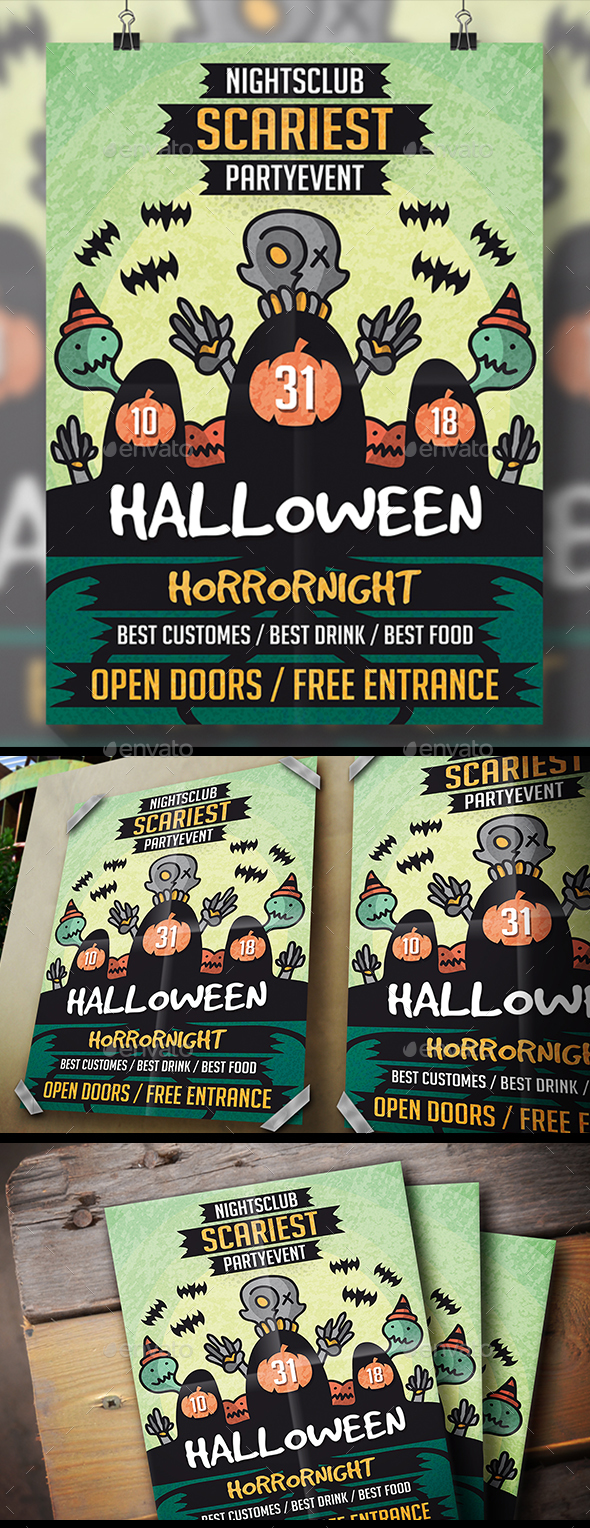 GraphicRiver Halloween Night Flyer 21014879