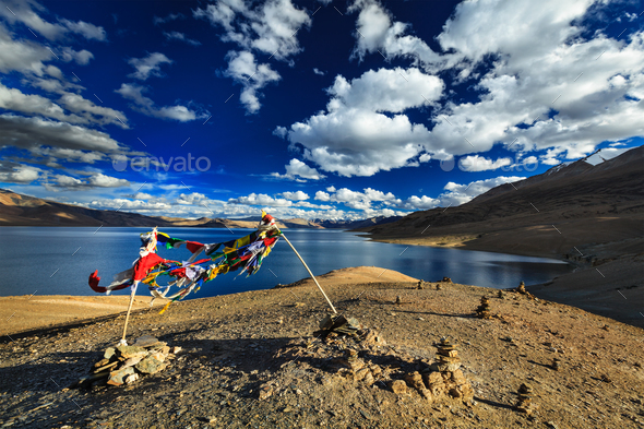 Tso Moriri, Ladakh, India - Stock Photo - Images