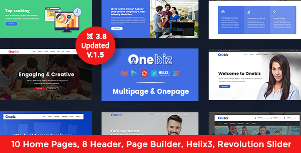 Onebiz - Responsive Multipurpose Joomla Template - Corporate Joomla