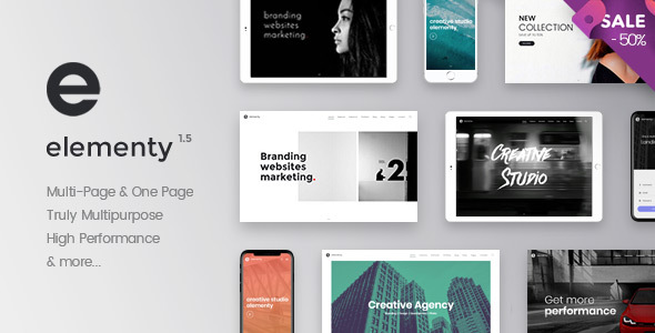 Elementy - Multipurpose One & Multi Page Template - Corporate Site Templates