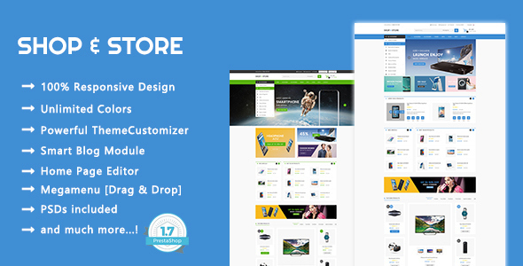 Shop & Store - Electronic, Digital Responsive Prestashop 1.7 Theme