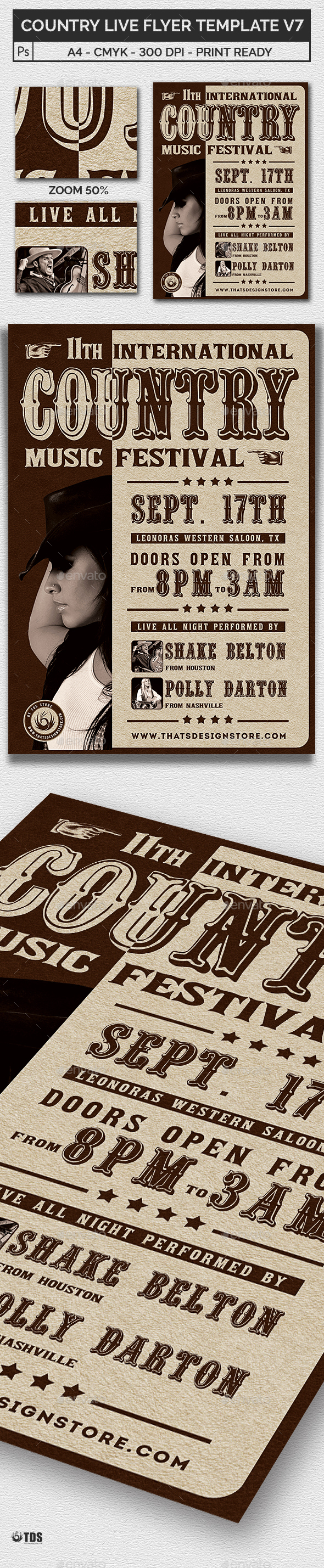 GraphicRiver Country Live Flyer Template V7 21015376