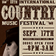Country Live Flyer Template V7 - GraphicRiver Item for Sale