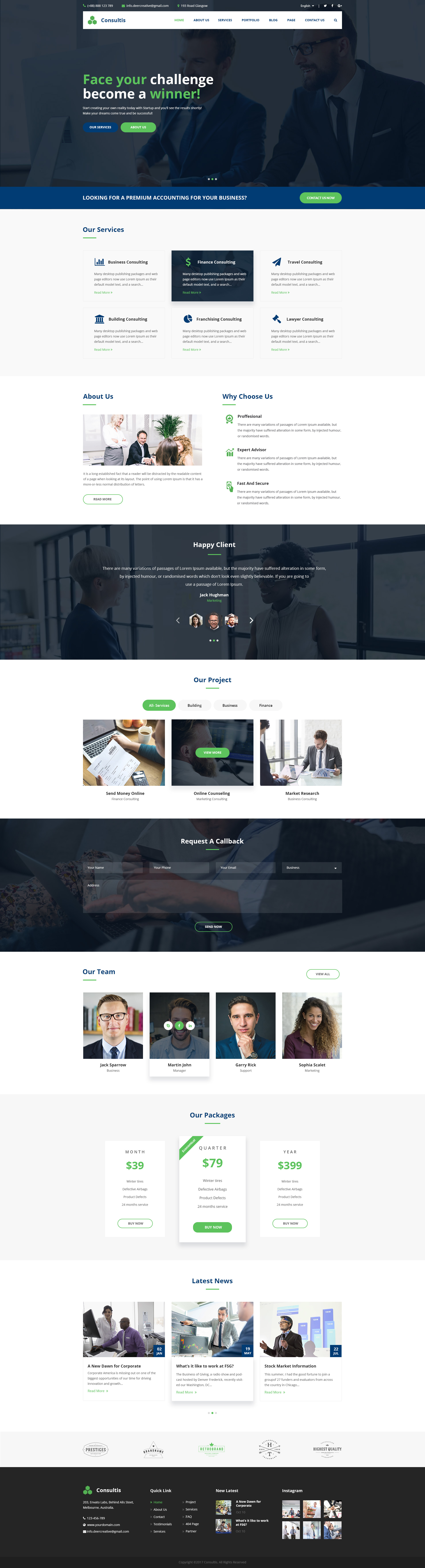 Consultis | Multipurpose Consulting PSD Templates by Leonard_Design