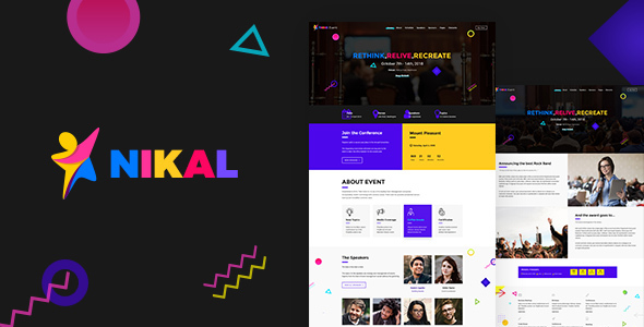 Nikal Event - Event Management Theme - Corporate WordPress