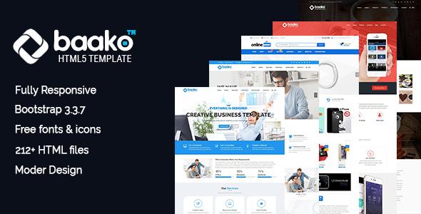 Image of Baako - Responsive HTML5 Template