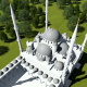 Top View of the Mosque and Trees - VideoHive Item for Sale