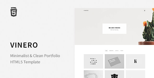 Vinero - Very Clean and Minimal Portfolio Template