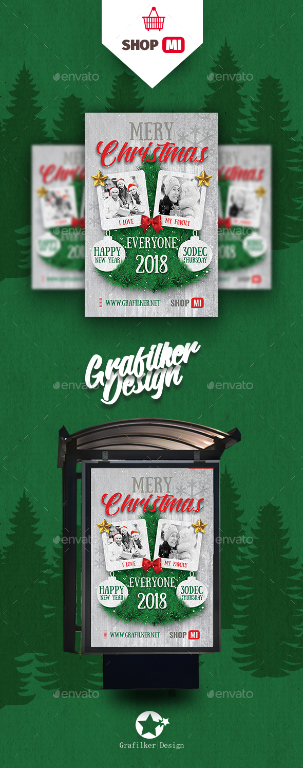 GraphicRiver Christmas Poster Templates 21015610