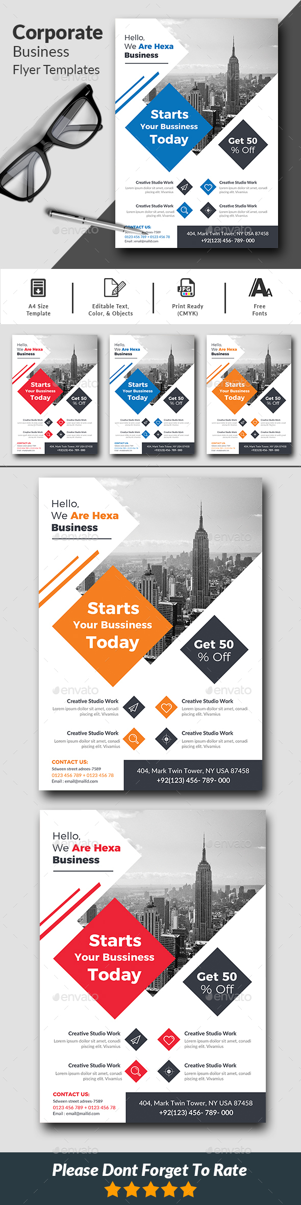 Corporate Business Flyer Templates - Corporate Flyers