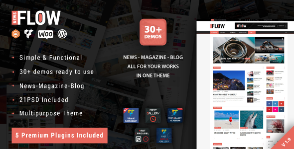 Flow News - Magazine and Blog WordPress Theme - News / Editorial Blog / Magazine