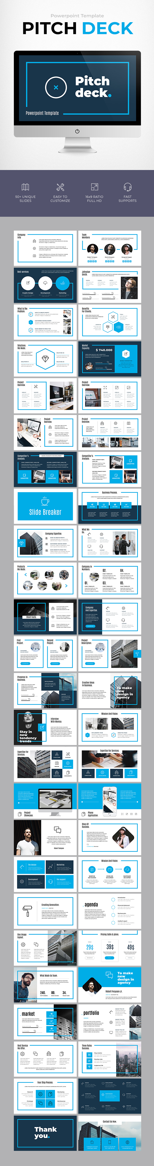 Pitch deck template by becreative graphicriver pitch deck template business powerpoint templates flashek Image collections