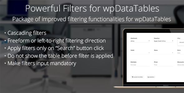 Powerful Filters for wpDataTables - Cascade Filter for WordPress Tables - CodeCanyon Item for Sale