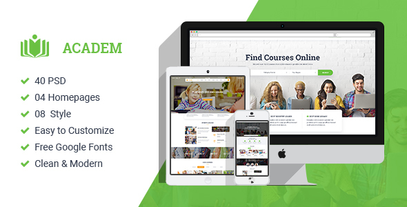 ThemeForest Academ Multiconcept College & Education PSD Template 21015815