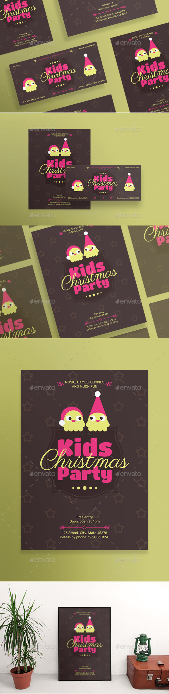 Kids Christmas Party Flyers - Clubs & Parties Events