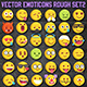 36 Rough Sketch Vector Emoji Set2 - GraphicRiver Item for Sale