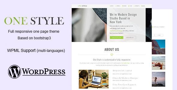 Parallax - Creative WordPress