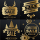 7 Christmas Gold Banners - GraphicRiver Item for Sale