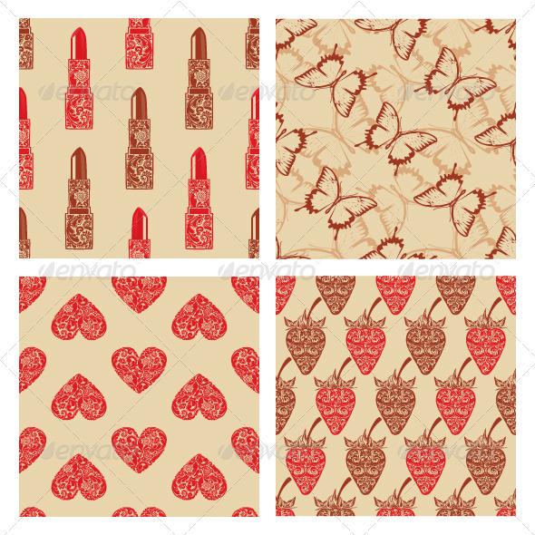 Set vintage seamless texture. - Backgrounds Decorative