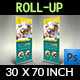 Veterinarian Clinic Signage Banner Roll Up Template