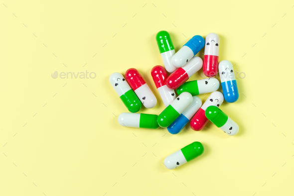 Supplement capsules or drugs - Stock Photo - Images