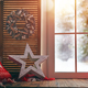 window decorated for holidays - PhotoDune Item for Sale